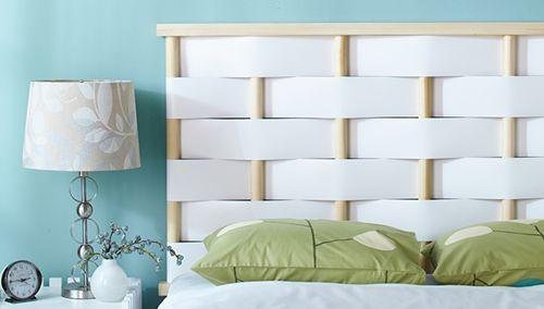 Cabeceros de cama originales para hacer con tiras entrelazadas decomanitas - Idea testiera letto ...