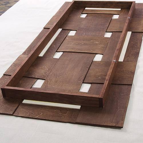 Cabeceros de cama originales para hacer con tiras - Cabeceros originales de madera ...