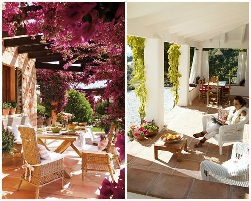 Ideas de decoraci n inspiradoras para porches jardines y - Porches para jardin ...