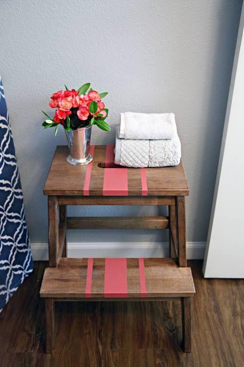 Tunear muebles Ikea una escalera de madera con mil y un usos