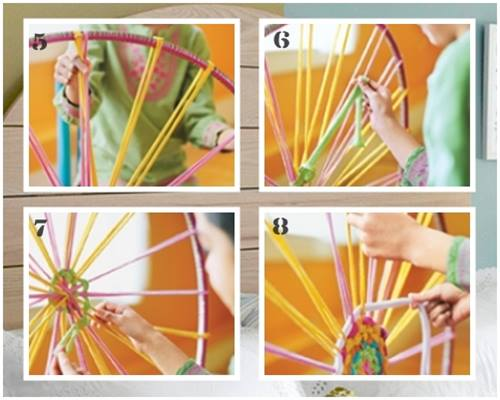 C mo hacer una alfombra de trapillo con un hula hoop - Manualidades hechas con trapillo ...