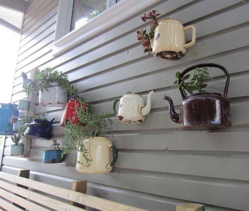 Divertida Idea De Teteras Con Plantas Para Decoraci 243 N