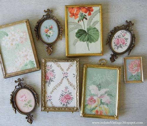 Ideas para decorar con papel pintado vintage decomanitas for Papel pintado para forrar muebles