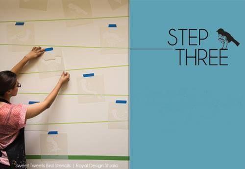 Plantillas para pintar paredes alegres con p jaros - Plantillas de letras para pintar paredes ...