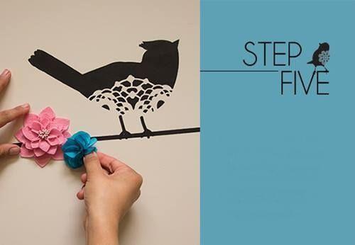 Plantillas para pintar paredes alegres con p jaros 5 - Plantillas de letras para pintar paredes ...