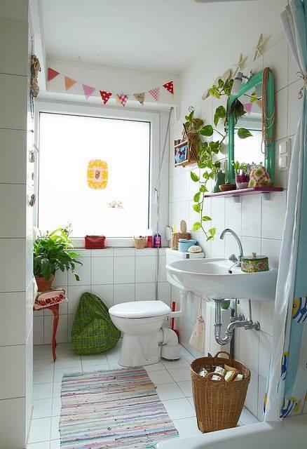 Decoracion de cuartos de ba o peque os con ideas vintage 1 - Decoracion cuartos de bano pequenos ...