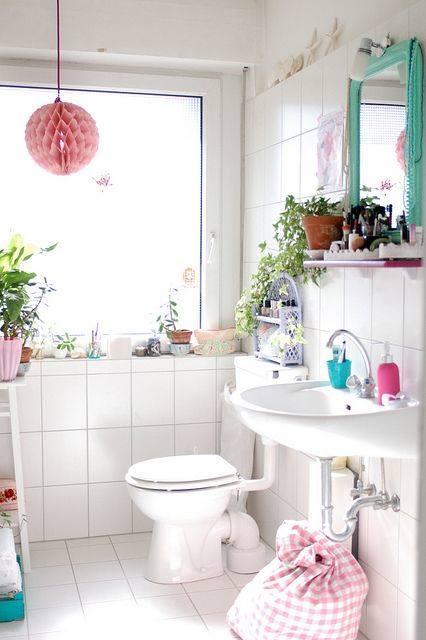 Baño Pequeno Vintage: 640 en Decoración de cuartos de baño pequeños con ideas vintage