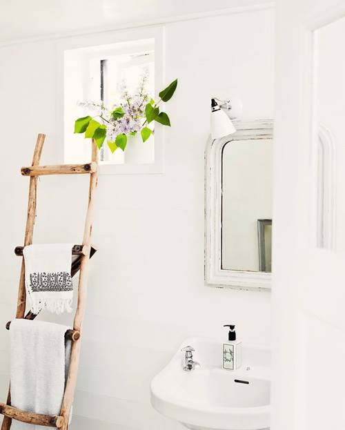 Baño Pequeno Vintage: 623 en Decoración de cuartos de baño pequeños con ideas vintage