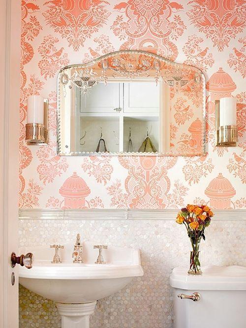 Baño Pequeno Vintage: de cuartos de baño pequeños con ideas vintage 5