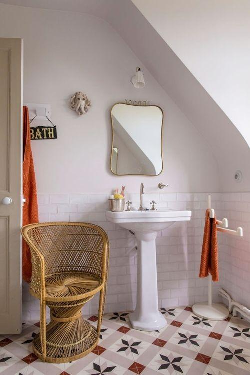 Baños Retro | Decoracion De Cuartos De Bano Pequenos Con Ideas Vintage Decomanitas
