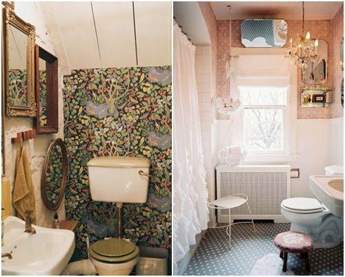 Baño Pequeno Vintage: de cuartos de baño pequeños con ideas vintage 7