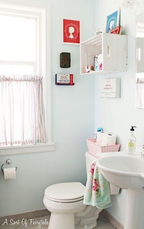 Baño Pequeno Vintage: de cuartos de baño pequeños con ideas vintage 8