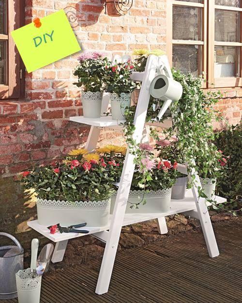 Ideas Reciclar Decorar ~   625 en Ideas para decorar y reciclar muebles estanter?a con escalera