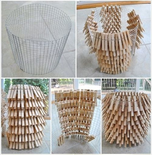 10 manualidades con pinzas de madera para decorar tu casa - Madera para manualidades ...