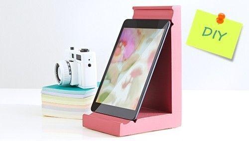 Diy c mo hacer un soporte para tablet o ipad decomanitas - Soporte tablet cama ...