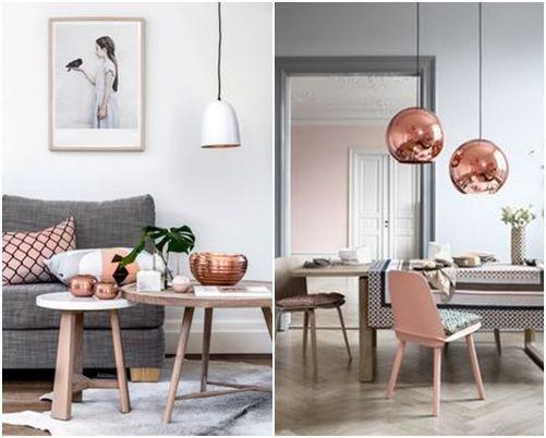 L mparas de color cobre y otras piezas para decoracion - Lamparas de decoracion ...