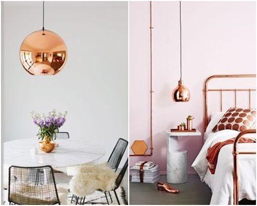 Lámparas de color cobre y otras piezas para decoracion vintage 5 ...