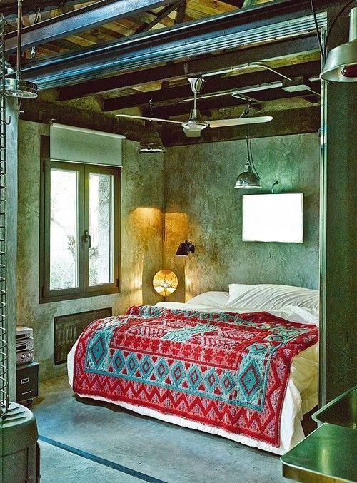 Casas con encanto loft con estilo industrial y muebles for Muebles reciclados para un estilo industrial