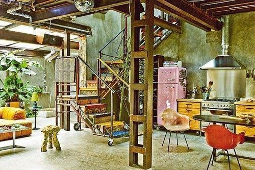 casas con encanto loft con estilo industrial y muebles reciclados decomanitas