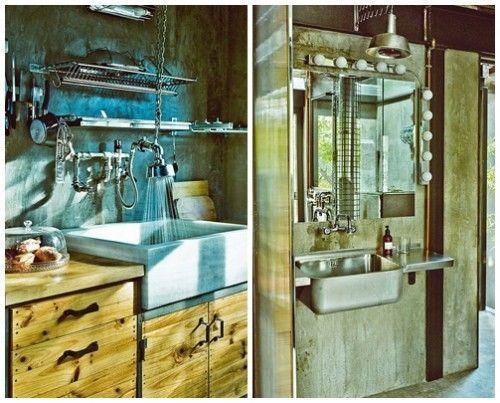 Casas con encanto loft con estilo industrial y muebles for Fotos muebles reciclados