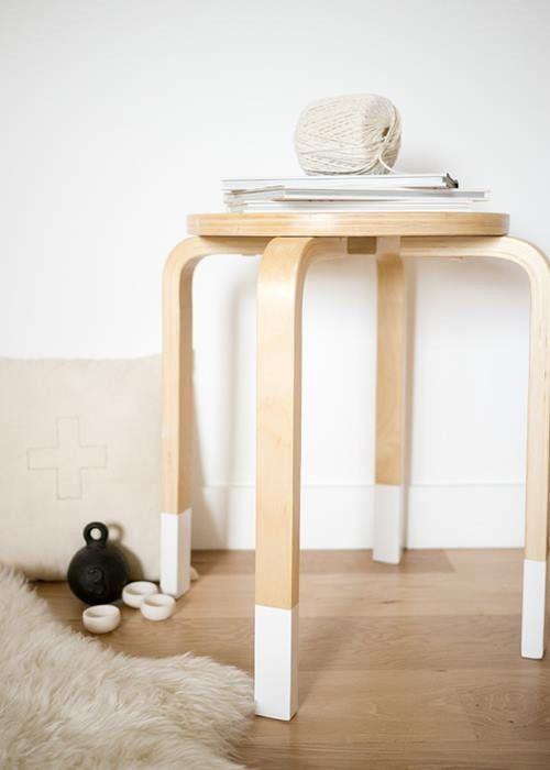 Transformar muebles ikea ideas para tunear el taburete for Pintar muebles de ikea