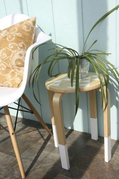 Transformar muebles ikea ideas para tunear el taburete for Muebles jardin ikea 2015