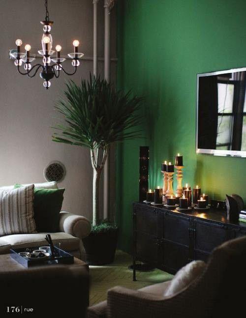 Muebles Separadores : Colores para pintar paredes verde esmeralda decomanitas