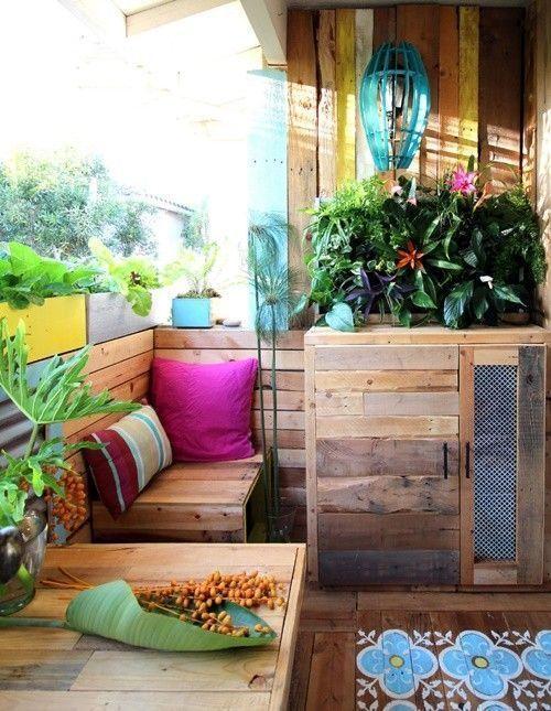 Ideas para decorar terrazas con palets y disfrutar del for Ideas para terrazas y patios