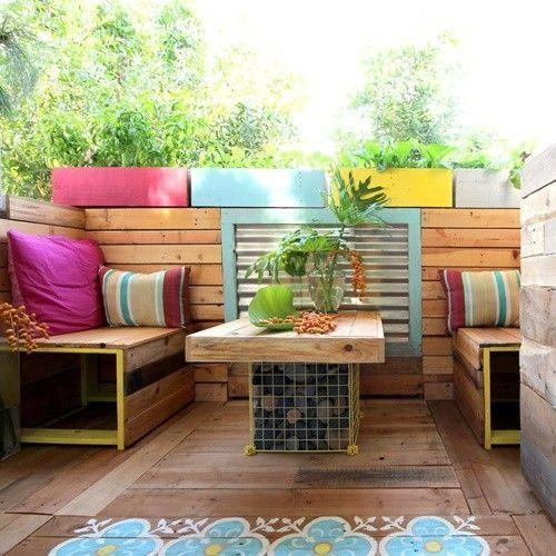 Ideas para decorar terrazas con palets y disfrutar del - Decoracion de terrazas cerradas ...