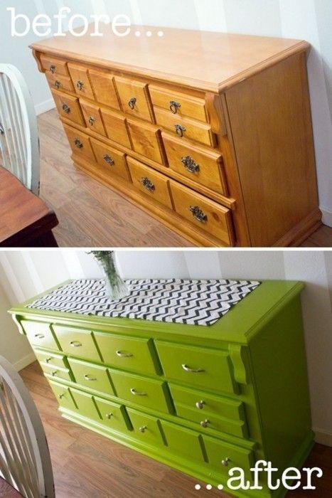20 ideas para pintar muebles de madera antiguos a todo color decomanitas - Ideas para restaurar muebles viejos ...