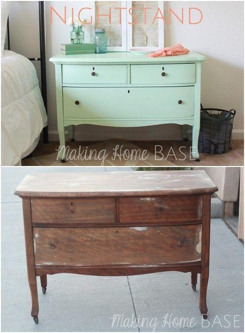 20 ideas para pintar muebles de madera antiguos a todo color decomanitas - Muebles estanterias de madera ...