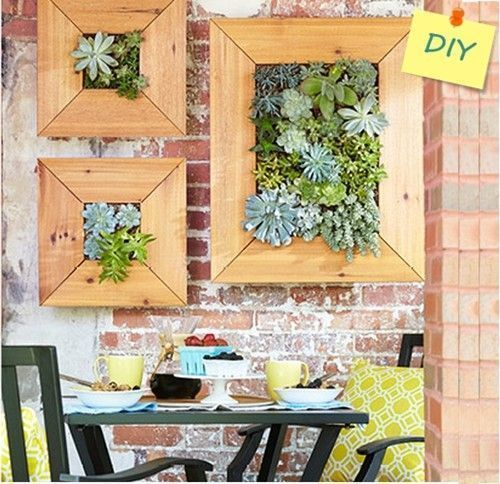Decorar terraza peque a jardin vertical de crasas - Como decorar una terraza pequena ...