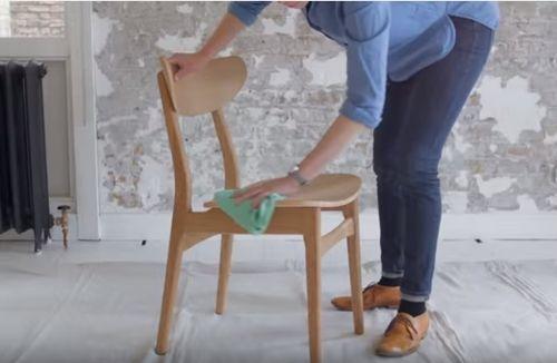 Diy efecto dip pintar muebles con las patas sumergidas - Muebles naturales para pintar ...