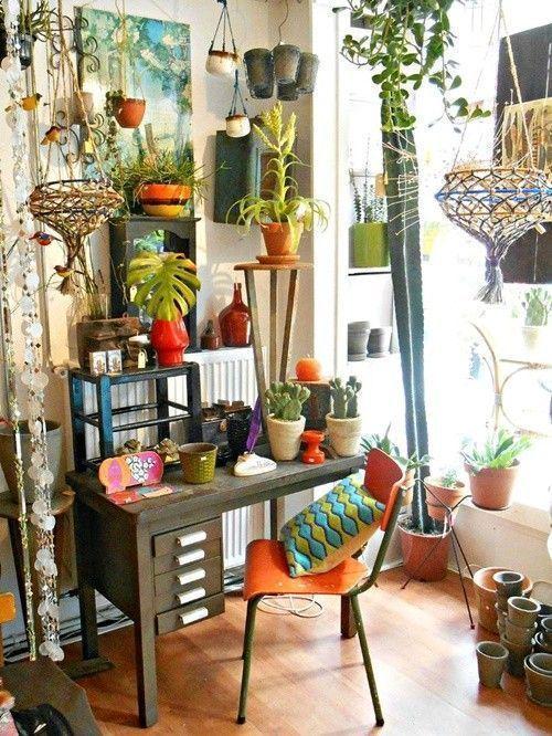 Los 25 rincones con plantas de interior m s bellos de - Plantas de interior para salon ...