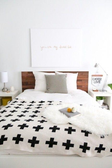 Tunear ikea camas decoradas con l minas de madera adhesivas decomanitas - Casas decoradas con ikea ...