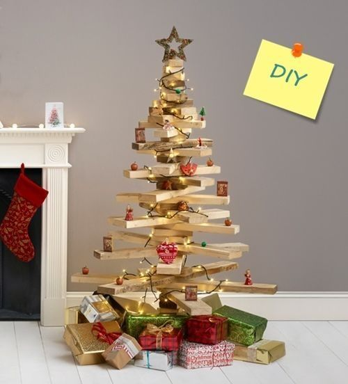 Diy decoraci n rbol de navidad original con listones de for Decoracion navidena para oficinas