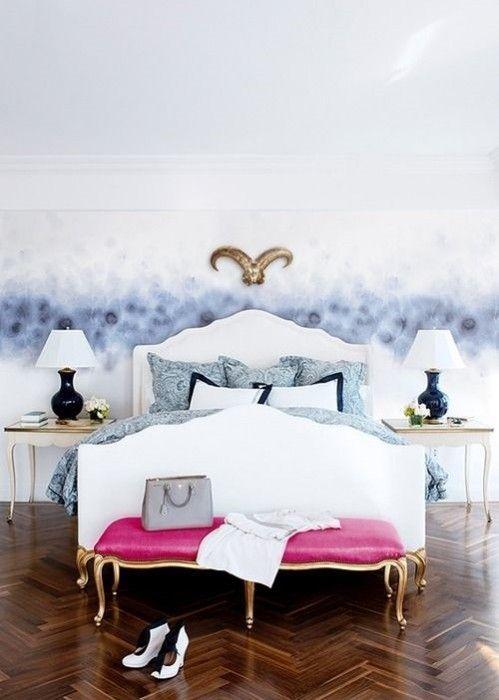Pintar paredes efecto acuarela o pizarra trampantojos for Fashionista bedroom ideas