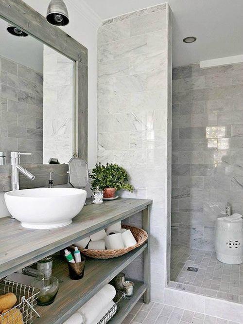 Cuartos De Baño Con Ducha Rusticos: en 12 cuartos de baño con ducha de estilo vintage que querrás copiar