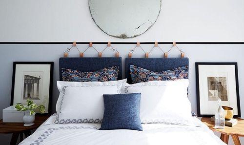 cmo hacer un cabecero original para la cama con denim y cuero es genial se trata de un proyecto de decoracin diy sencillo para el que necesitas