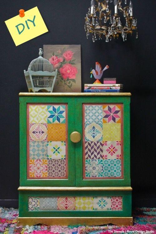 Decoracion vintage muebles con palets y reciclados ideas - Pintar muebles antiguos ...