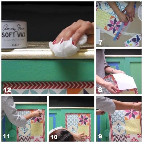 Decora tus muebles antiguos con plantillas para pintar paredes decomanitas - Papel de pared para pintar ...