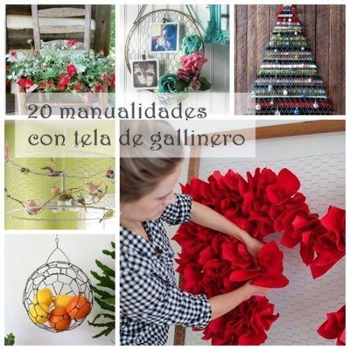 20 manualidades f ciles con malla de gallinero vintage - Manualidades para decorar el hogar ...