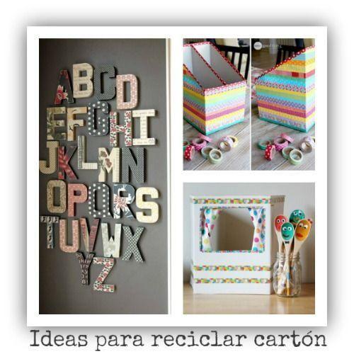Ideas para reciclar y decorar con cart n de cajas y env os for Ideas decoracion reciclaje