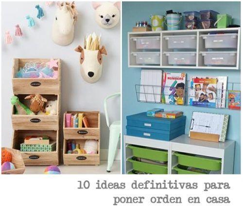 Orden en casa 10 ideas para organizar armarios c modas - Armarios para juguetes ...