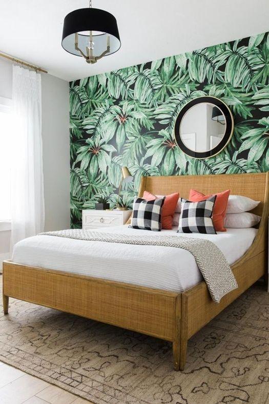 Como crear paredes de acento con papeles pintados 3 for Cabeceros de cama con papel pintado